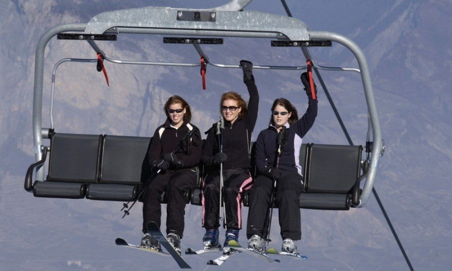 Sarah, Duchess Of York, enjoyed a ski trip with her two daughters, Princess Beatrice and Princess Eugenie, in Verbier, Switzerland in 2004. 