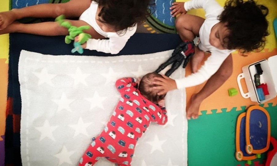 "Zoe Saldana broke the news of her newborn son on Instagram by sharing an adorable photo of all three children in what appears to be a playroom. The actress expressed how ""blessed"" she feels in the caption, writing: ""Marco and I are elated to share the news of the birth of our son Zen. We couldn't feel more blessed with the new addition to our family. #threeboys... oh boy!""