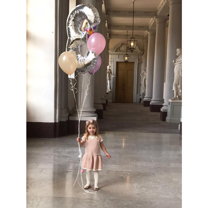 """Happy Birthday Sweet Leonore! You make us smile every day,"" the doting mom captioned the special photos.