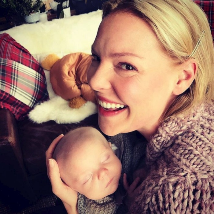 "Katherine held on to her sleeping baby and could only find one work to sum him up.""This kid...just YUM! #littleman #joshuabishopjr #babybliss."" 