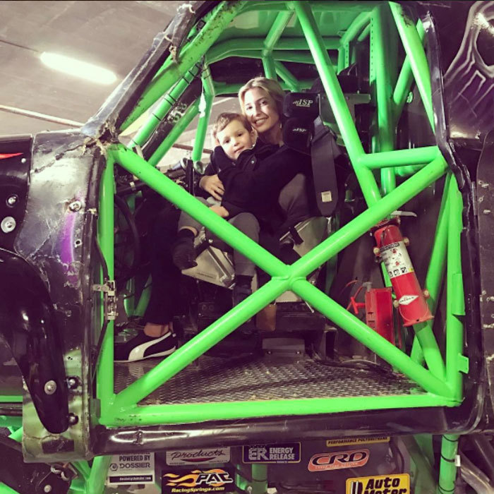 "The first daughter cozied up close to her oldest son inside a monster truck. ""Monster Jam!"" she wrote alongside the photo taken at the Royal Farms Arena.