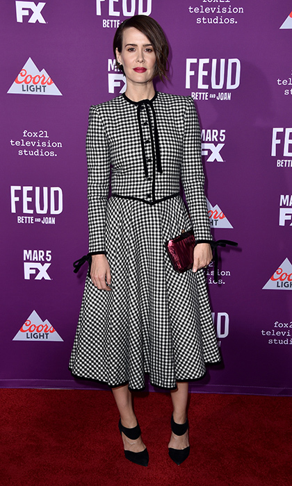 March 1: Sarah Paulson donned vintage Valentino for FX Network's <i>Feud: Bette and Joan</i> premiere in Hollywood.