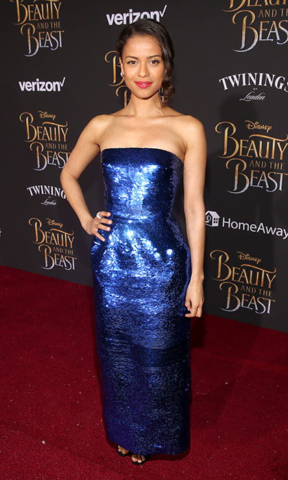 March 2: It was Gugu Mbatha-Raw's time to shine at the world premiere of Disney's <i>Beauty and the Beast</i> at the El Capitan Theatre in Hollywood.