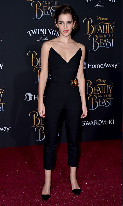 March 2: Emma Watson channeled a 21st century Audrey Hepburn at Disney's </i>Beauty and the Beast</i> premiere at El Capitan Theatre in Los Angeles.