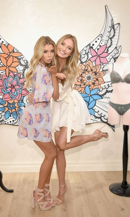 "February 28: Victoria's Secret Angels Stella Maxwell and Romee Strijd launched the all new Dream Angels collection. The models shared their ""sexiest spring must-haves"" at the world's sexiest store on 5th Avenue in NYC.