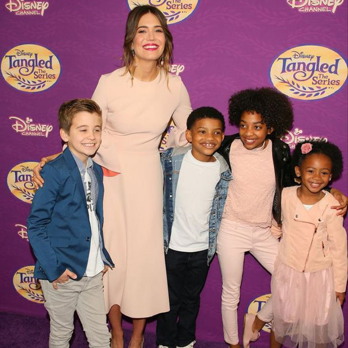 March 4: Mandy Moore had the cutest dates to her <i>Tangled Before Ever After</i> series in L.A. - her <i>This is Us</i> co-stars  Parker Bates, Lonnie Chavis, Eris Baker and Faithe Herman.
