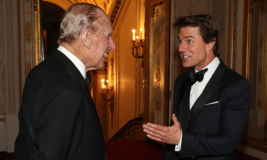 Tom Cruise had an animated conversation with Queen Elizabeth's husband Prince Philip on March 8, 2017, during a dinner to mark the 75th anniversary of the Outward Bound Trust at Buckingham Palace.