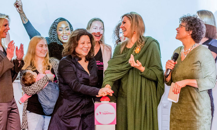 Queen Maxima spent International Women's Day with some super women. The Dutch royal helped kick off the events of the day with the Single Supermom Foundation in Amsterdam.