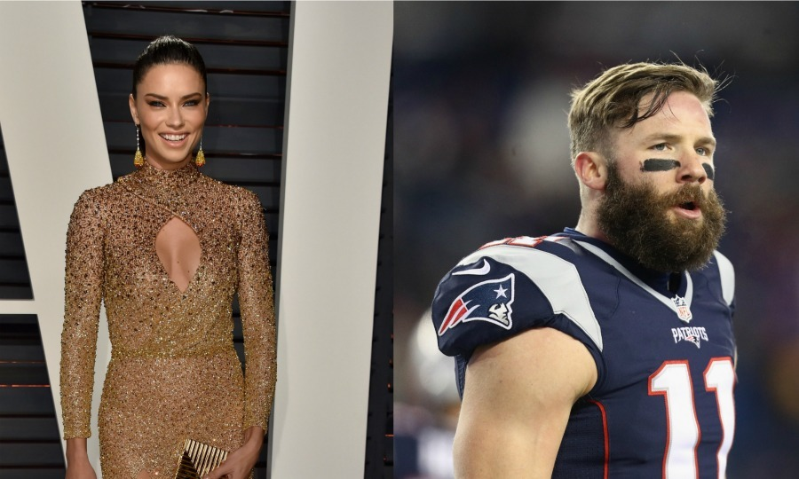 <b>Adriana Lima and Julian Edelman</b>