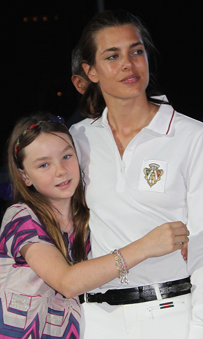 Poised mom-of-one Charlotte, who models for Gucci, was on hand when Alexandra made her society debut in 2016 at the Rose Ball in Monte Carlo, ensuring that her little sister was at ease in front of the cameras.