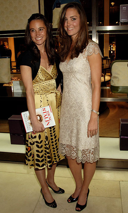 Pippa Middleton and Duchess Kate together at a London book launch party in 2007. 