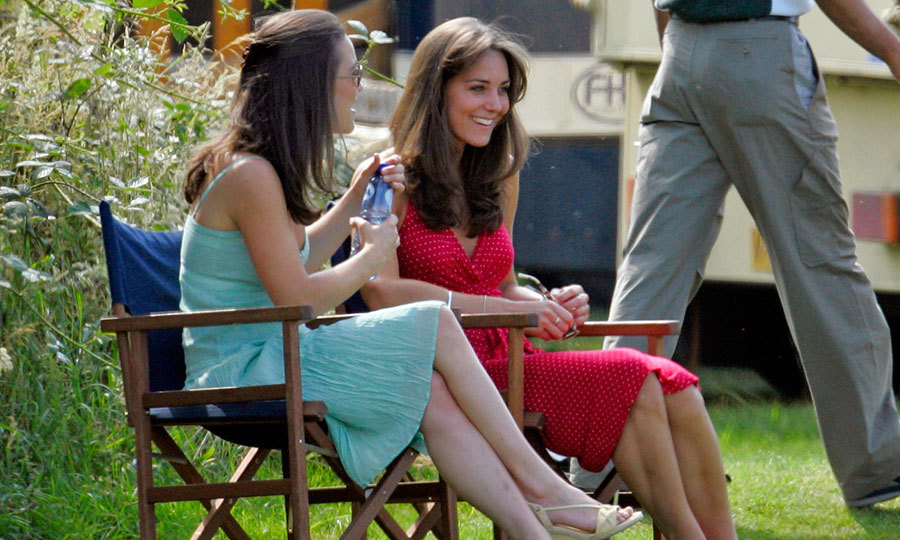 In 2006, Kate and Pippa did some sister bonding on the sidelines as they watched Prince William compete in a polo match. 