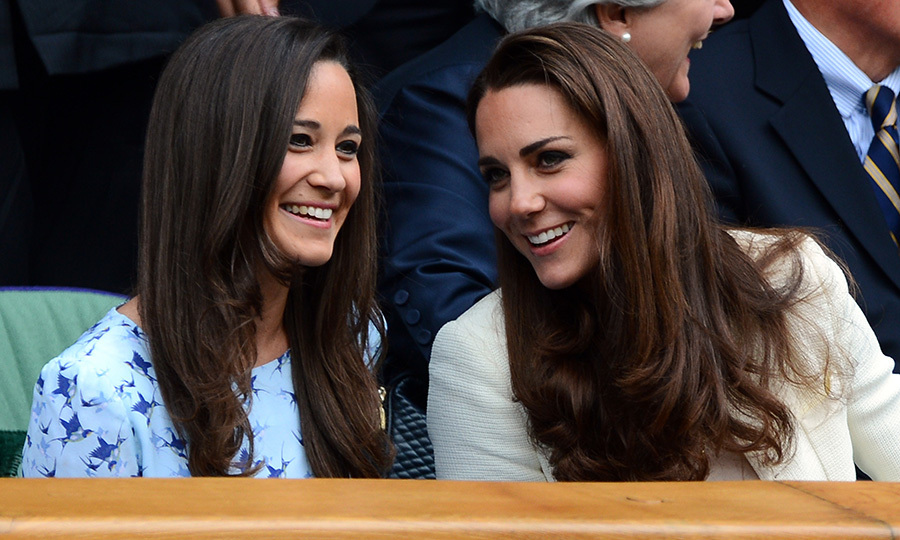 Kate and Pippa attending the 2012 Wimbledon Championships tennis tournament together.