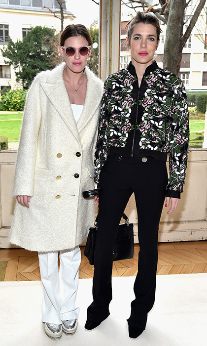 Charlotte Casiraghi was one-half of a stylish duo with pal Juliette Dol at the Giambattista Valli show at Paris Fashion Week.