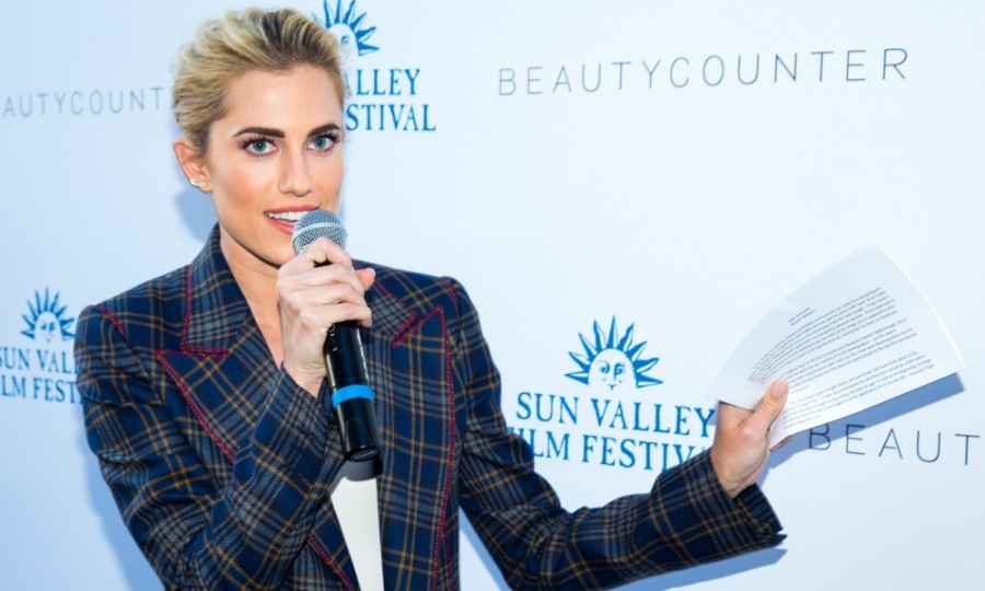 "March 16: Get out! Allison Williams received the inaugural ""Rising Star Award"" from the 2017 Sun Valley Film Festival, presented by Zions Bank in Sun Valley, Idaho. 