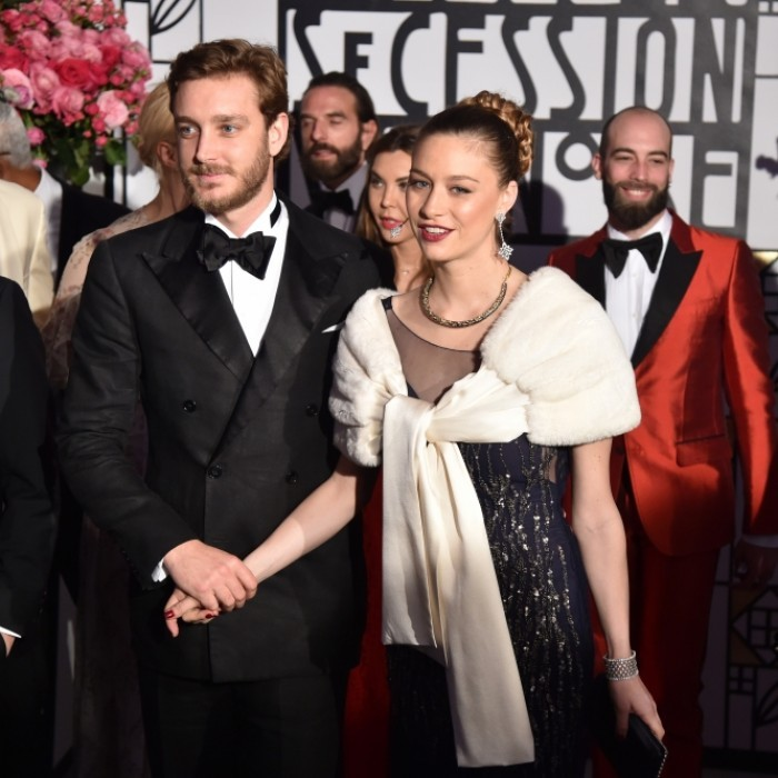 Joined by husband Pierre Casiraghi, Beatrice Borromeo made her first public appearance after giving birth to their first child, Stefano, on February 28. The new parents held hands as they walked into the 2017 Rose Ball in Monte-Carlo, with new mom Beatrice looking lovely in an embellished navy blue gown.