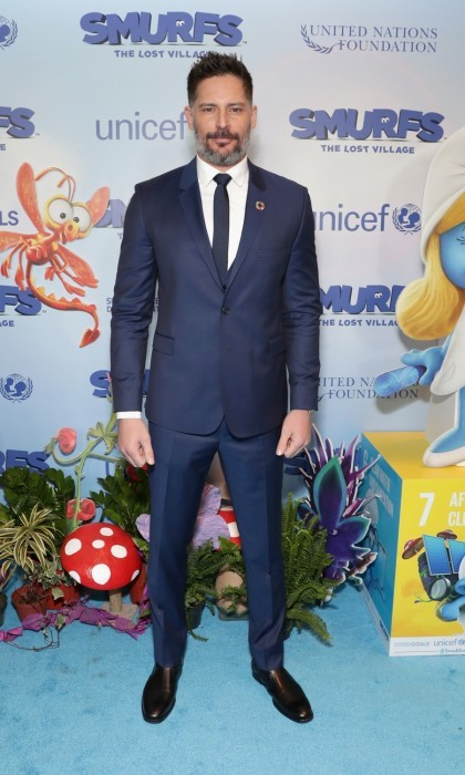 March 18: Demi's <i>Smurfs</i> co-star Joe Manganiello looked handsome in Ted Baker London on the NYC carpet. 
