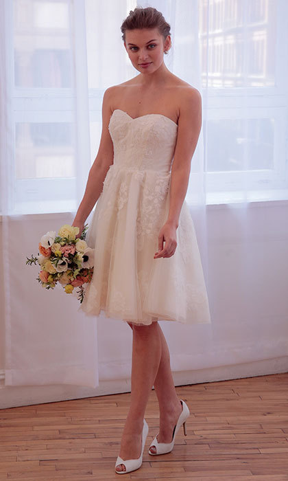 This <b>David's Bridal</B> dress is prom pretty and perfect for a romantic summer wedding. 