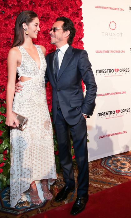 March 21: Marc Anthony only had eyes for his new lady Mariana Downing during the Maestro Cares Foundation's Changing Lives/Building Dreams Gala at Cipriani Wall Street  in NYC.