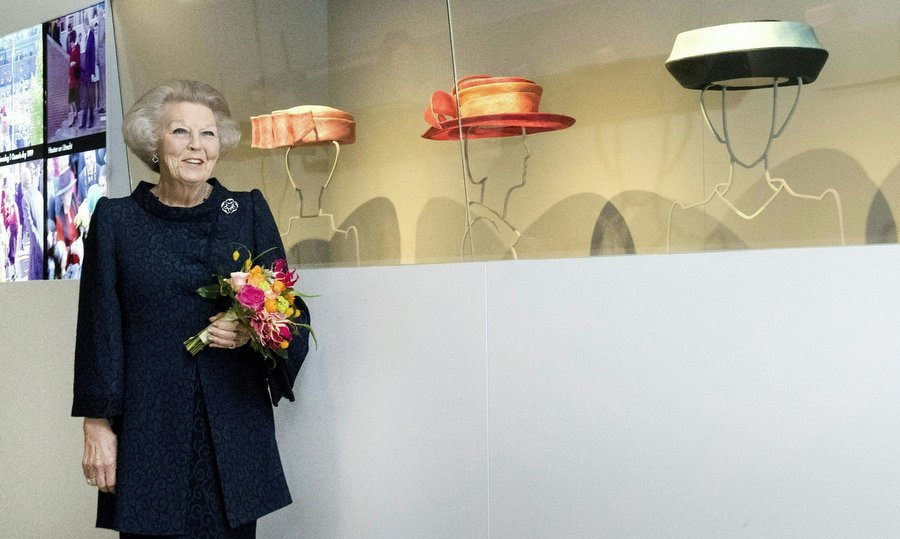 Hats off to Princess Beatrix! The royal, who was Queen of the Netherlands from 1980 until 2013, celebrated her famous toppers at a new exhibition at the Paleis Het Loo in Apeldoorn on March 22.