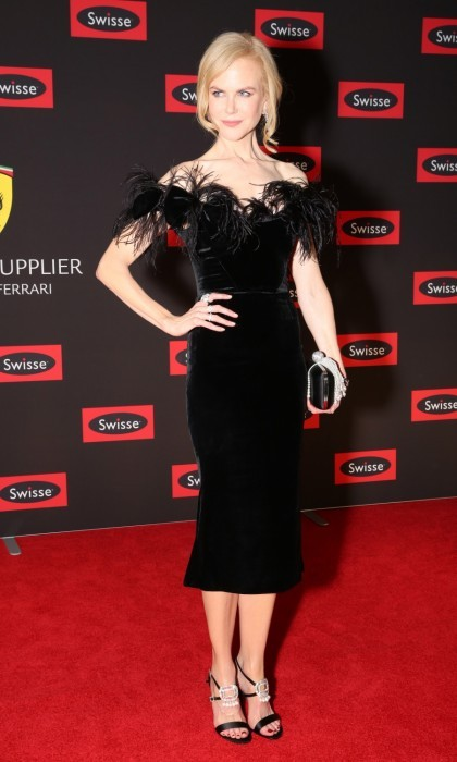 "March 25: Red carpet stunner Nicole Kidman looked as glamorous as ever in a black velvet number that was trimmed with feathers. The acclaimed actress attended the Swisse Wellness ""Power Your Passion"" event in Melbourne, Australia. 