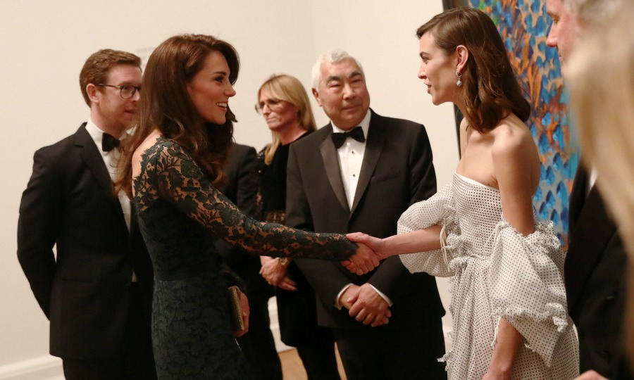 Getting artsy! Alexa Chung had a friendly meeting with Kate Middleton during the 2017 Portrait Gala in London. During the affair at the National Portrait Gallery, Alexa also introduced the Duchess to her father Philip.
