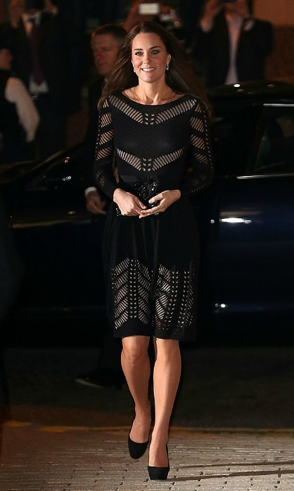 For the 2014 Action on Addiction Autumn Gala Evening at L'Anima, the royal mom wore a daring piece by the British label featuring panels exposing the dress's nude slip beneath.