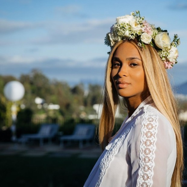 Ciara Stunned At Her Baby Shower Photo: Instagram/@ciara