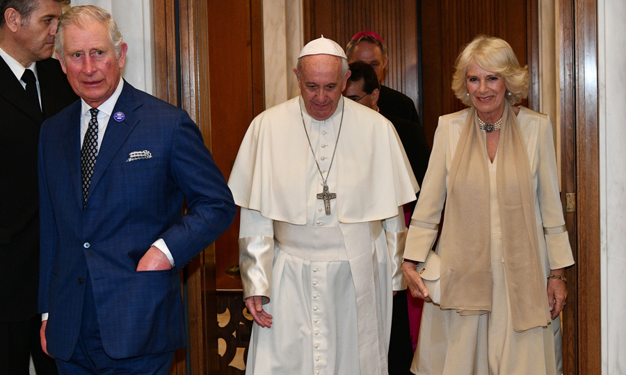 Pope Francis welcomed Prince Charles and Camilla to the Vatican, where they had a private audience.