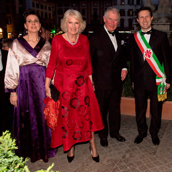 Prince Charles and the Duchess of Cornwall made a dashing pair attending a Gala Dinner at the Palazzo Vecchio with the Mayor of Florence, Dario Nardella and his wife during day 4 of their visit to Italy.