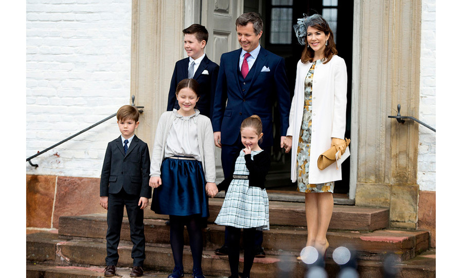 Crown Prince Frederik and Crown Princess Mary, along with their children Prince Christian, Princess Isabella, Prince Vincent and Princess Josephine, stepped out for their nephew/cousin Prince Felix's confirmation.