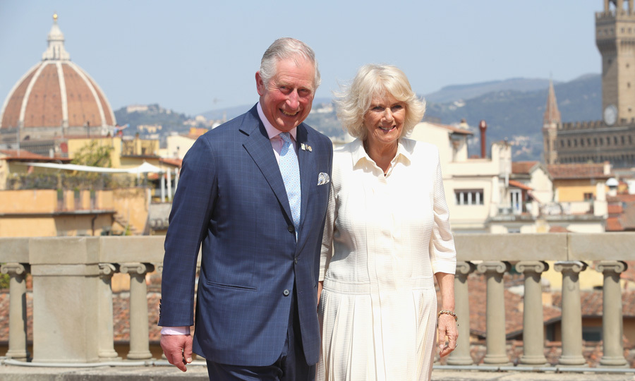 Charles and Camilla were all smiles attending an event for the Italian Wool Industry and the Prince of Wales's Campaign for Wool at Palazzo Pitti in Florence.