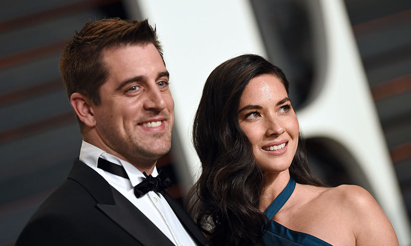 <b>Olivia Munn and Aaron Rodgers</B>