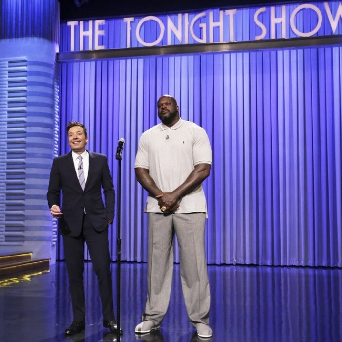 "April 3: Jimmy Fallon kicked-off his week-long taping of <i>The Tonight Show</i> in Orlando with an <a href=""https://www.youtube.com/watch?v=TBvq1qSHYjE""><strong>epic Lip Sync Battle</strong></a> against Shaquille O'Neal!