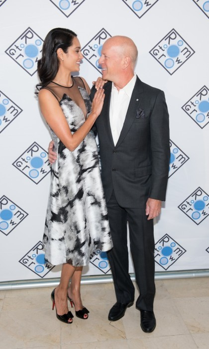 April 5: Growing closer! Bruce Willis and Emma Heming made for a beautiful couple at the 2017 Room To Grow Spring Benefit at Guastavino's in New York City. 