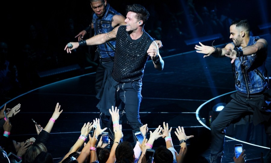 April 5: Livin' La Vida Loca! Ricky Martin took to the stage for opening night of his residency 'All In' at Monte Carlo Resort and Casino in Las Vegas. 