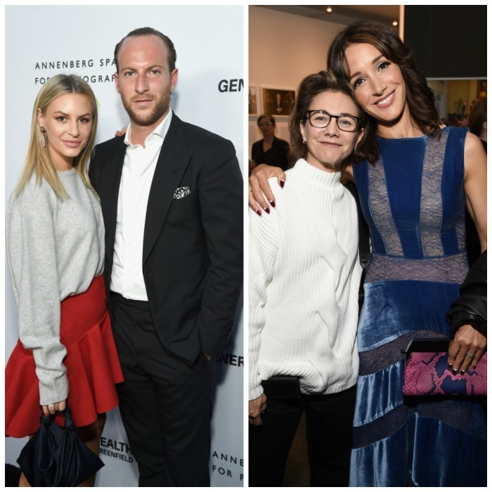 April 6: Celebrity guests showed up for the Annenberg Space for Photography opening night of GENERATION WEALTH by Lauren Greenfield. <i>Rich Kids of Beverly Hills</i> stars Morgan Stewart and Brendan Fitzpatrick supported the photography display. Jennifer Beals, who stars in <i>Taken</i>, was also in attendance, seen here posing with producer Ilene Chaiken at the Century City, California event.