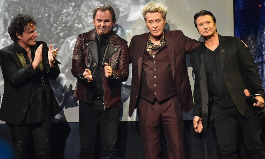 April 7: Don't stop believin'! Former Journey bandmates Neal Schon, Jonathan Cain, Ross Valory and Steve Perry reunited at the 32nd Annual Rock & Roll Hall Of Fame Induction Ceremony at Barclays Center. The rockstars were inducted during the evening in New York City. 