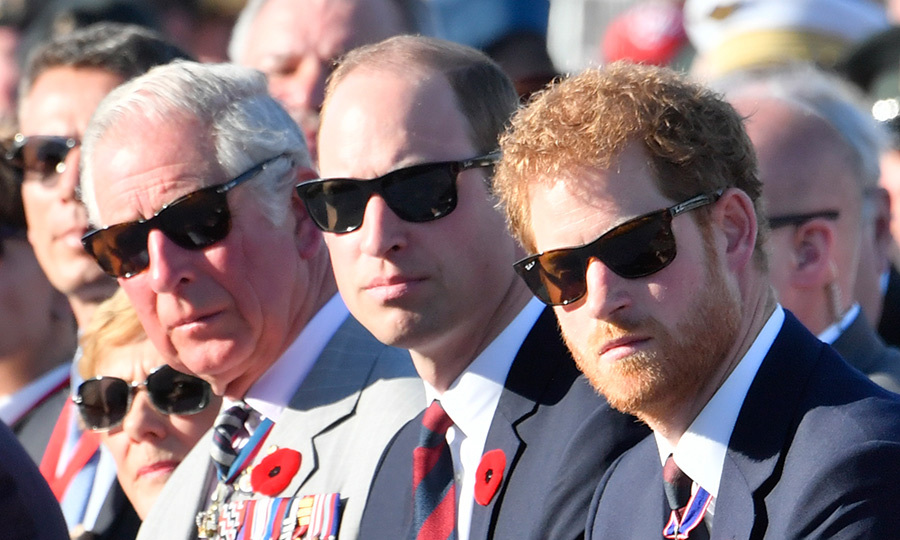 The royal brothers – and dad Prince Charles – wore matching Ray Bans in April 2017 at the commemorations for the 100th anniversary of the battle of Vimy Ridge in Lille, France.
