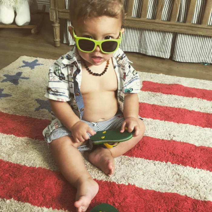Boomer Phelps had a new milestone to take into Spring break! Michael and Nicole's son couldn't help show off his new clapping skills in a video posted on social media. In another shot, the adorable 10-month old was ready for the pool.