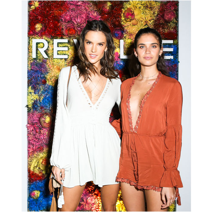 April 13: Sara Sampaio helped fellow VS Angel Alessandra Ambrosio celebrate her line Ale by Alessandra x REVOLVE at a dinner at Hotel Revolve in Palm Springs, California.