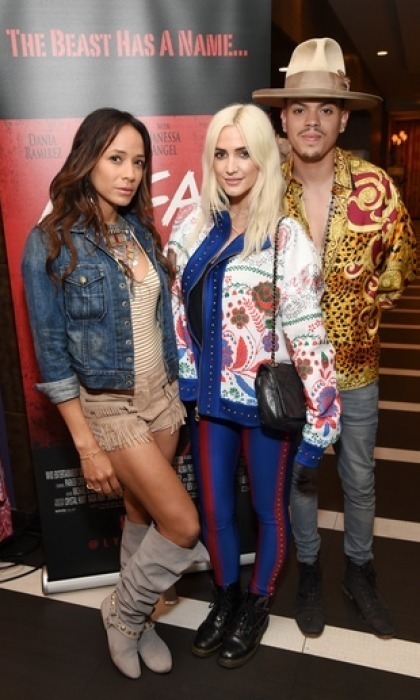 April 14: Ashlee Simpson-Ross, who brought along dad Joe,  Evan Ross and Dania Ramirez toasted to music's biggest weekend in the desert with Limited Edition CÎROC Summer Colada at the Hard Rock Hotel in Palm Springs.