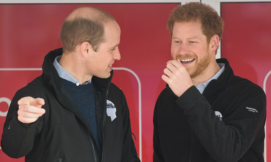 Prince Harry might be known as the jokester of the two, but here it's Prince William who caused his brother to crack up during the London Marathon in 2017.