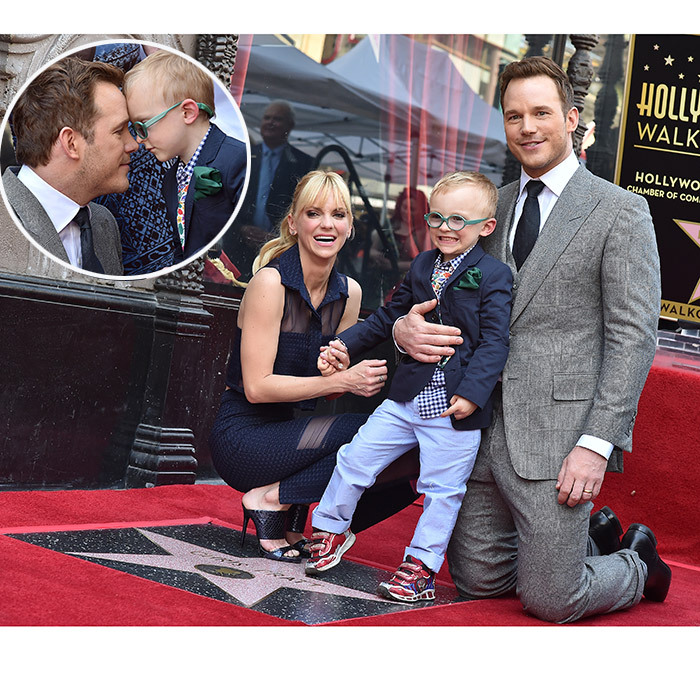 Chris Pratt may have been getting a star on the Hollywood Walk of Fame, but the actor, supported by his wife Anna Faris, was upstaged by the couple's adorable four-year-old son Jack. The 'Guardians of the Galaxy' star didn't seem to mind though – he only had eyes for his little boy, too.