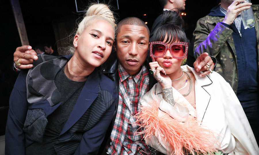After wowing at the Met Gala, Rihanna headed to 1 OAK for her official after-party, where she mingled with Pharrell Williams and his wife Helen Lasichanh and had the D'USSE and Absolut Elyx flowing. 