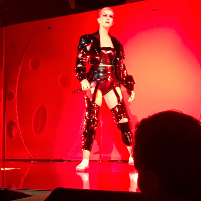 "Katy Perry delivered a ""great performance"" inside the Costume Institute's annual ball singing her new hit <i>Chained to the Rhythm</i> in addition to her classics, <i>Dark Horse</i> and <i>Teenage Dream</i>. 