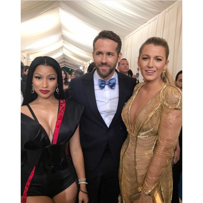 "And again with Ryan Reynolds and Blake Lively. Nicki wrote, ""#MetGala2017 I can't. Omg.""
