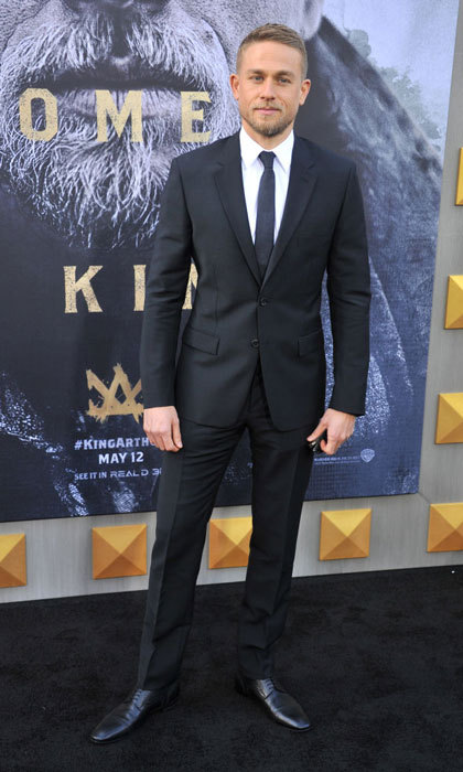 Charlie Hunnam had a royal presence in Prada at the <i>King Arthur- Legend of the Sword</i> premiere in L.A.