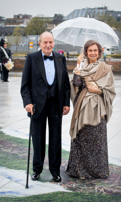Spain's King Juan Carlos and Queen Sofia looked like a dashing duo for the 80th birthday party. 