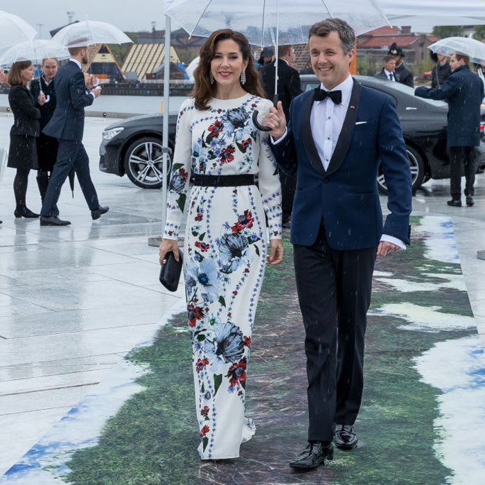 Crown Princess Mary stunned in one of Kate Middleton's favorite designers - Erdem for King Harald's second night festivity.